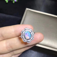 Dazzling Certified Fire Opal 925 Sterling Silver Ring - The Urban Doll