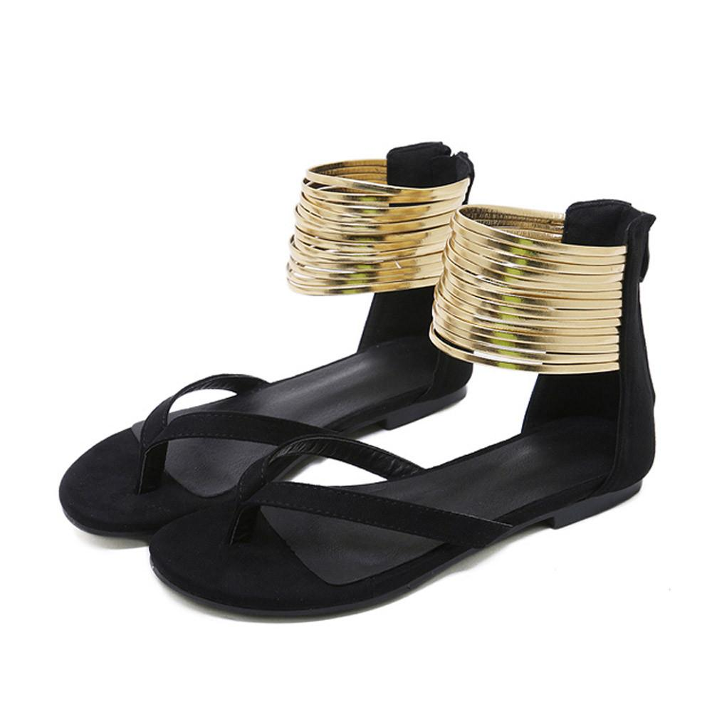 9e7c4cf46f5 Gold Rings Ankle Strap Gladiator Sandals (3 Colors) - The Urban Doll