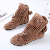 Bow Tie Hollowed Out Ankle Booties (3 Colors) - The Urban Doll