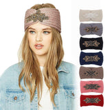 Beaded Patchwork Knitted Head Wrap (7 Colors) - The Urban Doll