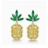 Sparkling Cubic Zirconia Pineapple Earrings - The Urban Doll