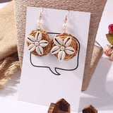 Sea Shell and Rattan Drop Earrings - The Urban Doll