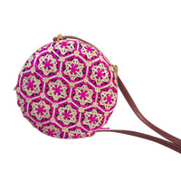 Star Arabesque Colorful Handwoven Rattan Crossbody Bag (5 Colors) - The Urban Doll