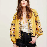 Embroidered Lightweight Boho Jacket - The Urban Doll