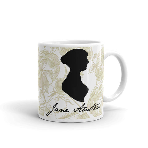 Jane Austen Signature White Coffee Mug