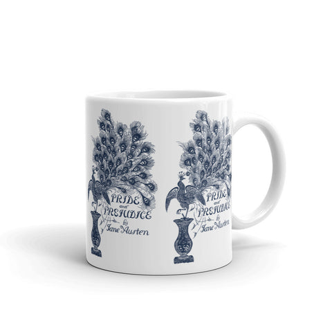 Pride and Prejudice Peacock Full Image Mug