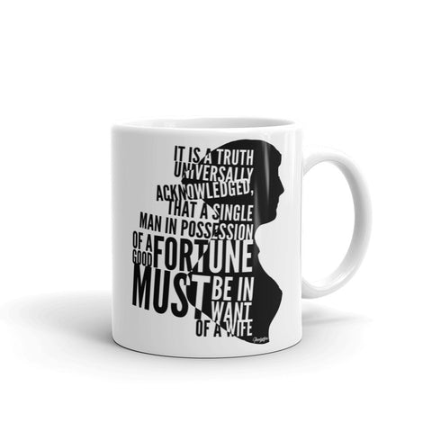 First Lines of Pride and Prejudice Mug