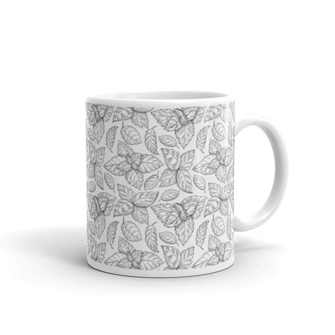 Inked Tea Leaves Mug
