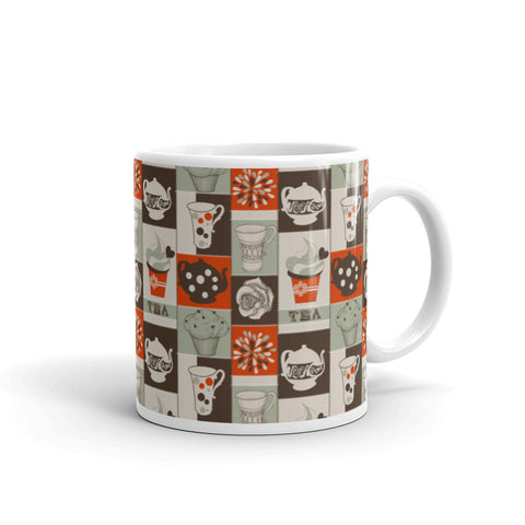 Tea Lovers Red Colorblock Mug