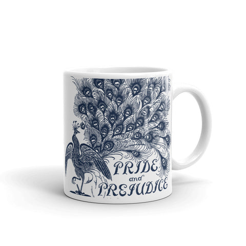 Pride and Prejudice Peacock Mug