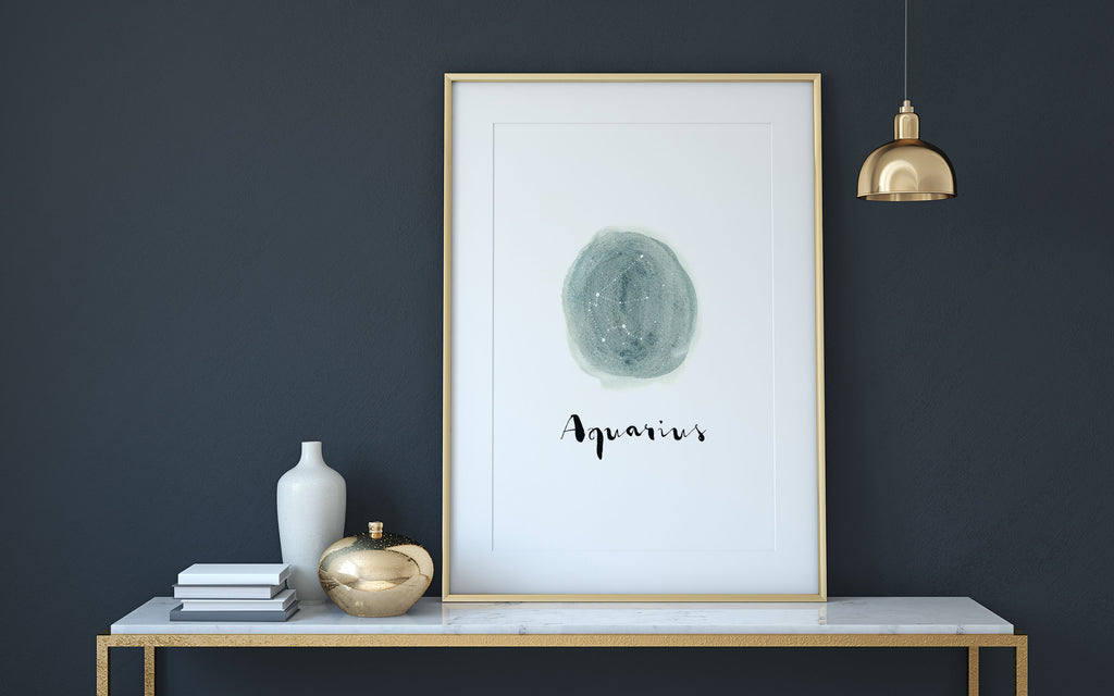 Watercolour Zodiac Constellation Print - 9