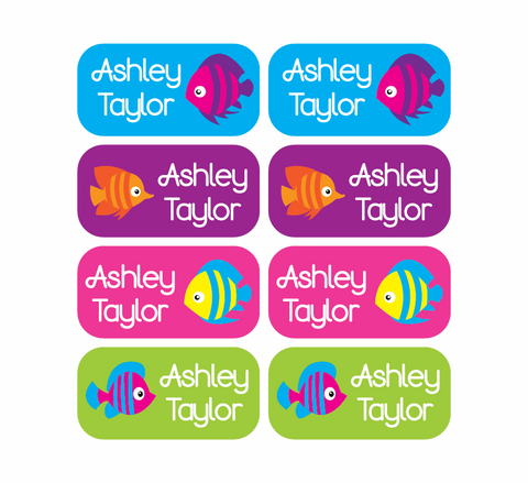 Clothing Tag Labels - Fish - MeY Decals