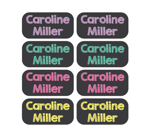 Clothing Tag Labels - Chalkboard - MeY Decals