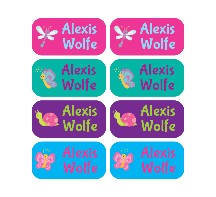 Clothing Tag Labels - Butterflies - MeY Decals