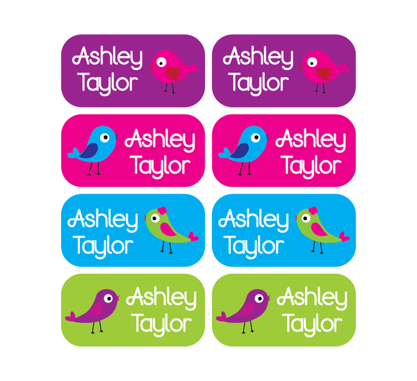 Clothing Tag Labels - Birds - MeY Decals