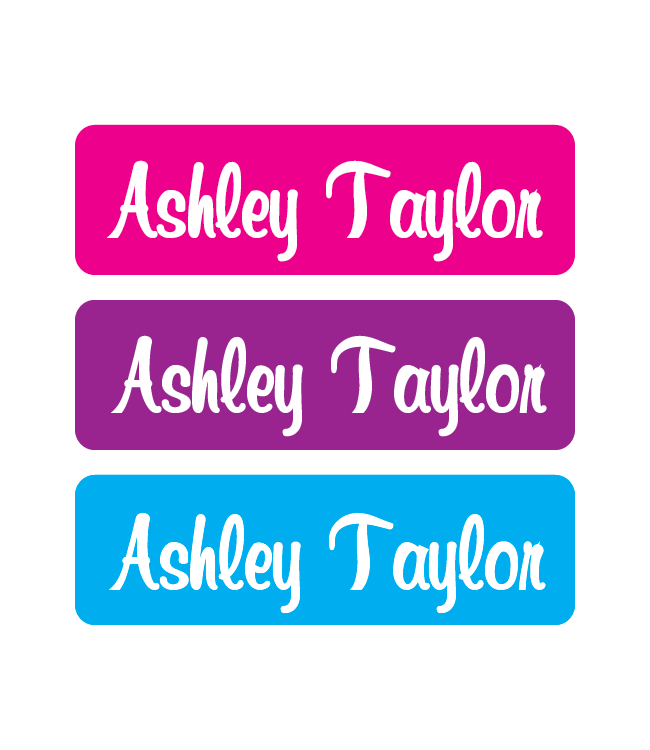Iron On Labels - Solid - Pink, Purple, Blue - MeY Decals