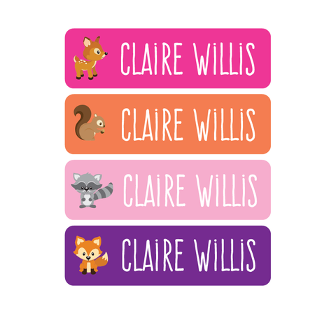 Waterproof Labels - Woodland Creatures - MeY Decals