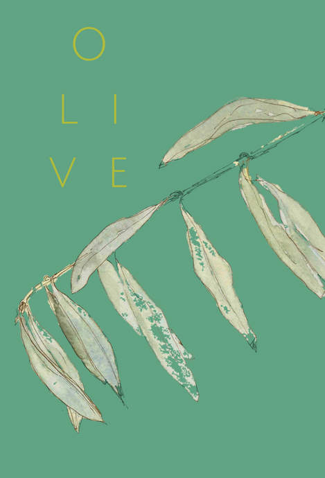 Olive LEAVES greeting card