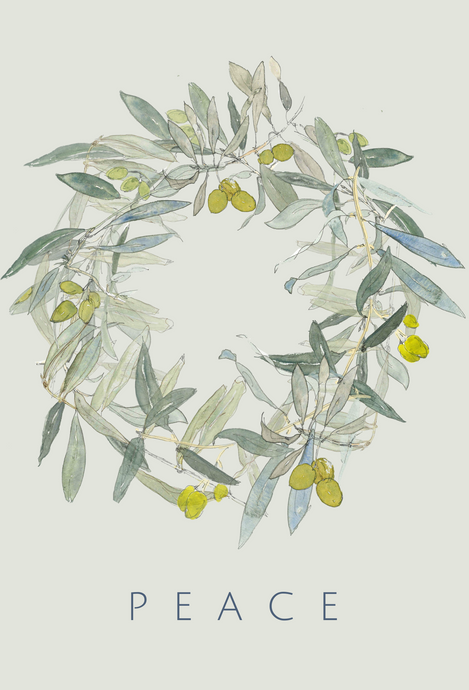 Olive PEACE Wreath