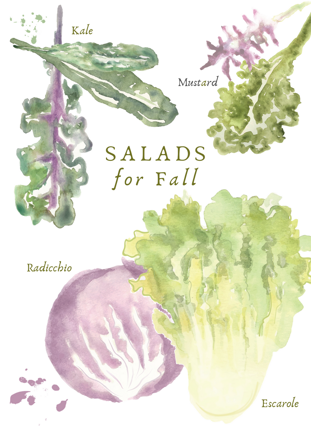 Fall Salad Greeting Card
