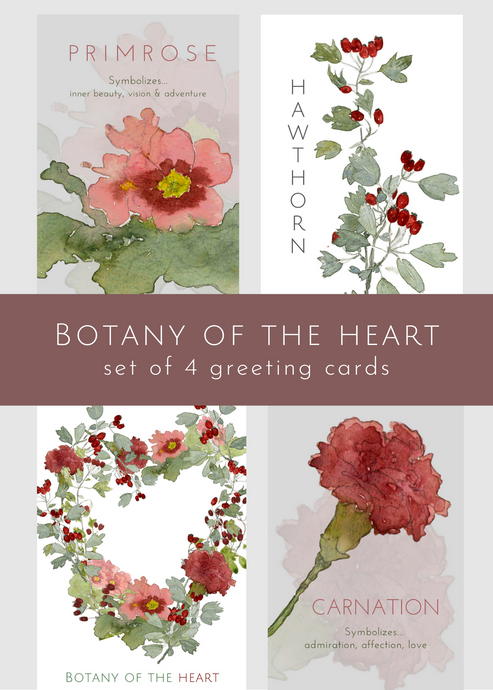 Botany of the Heart, set of 4