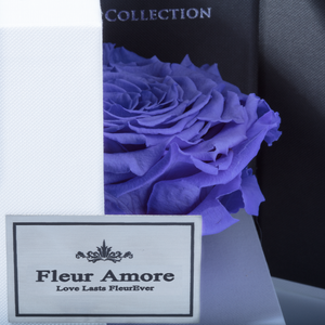 Purple Mega Preserved Rose | Swing Opening Box