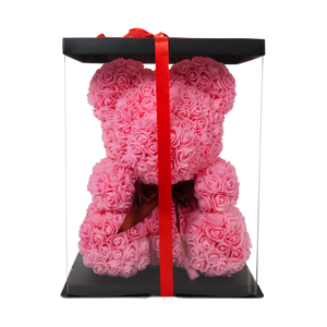 Pink Classic Rose Bear 40cm Tall