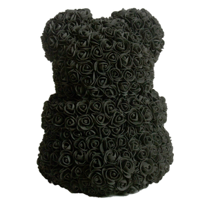 Black Classic Rose Bear 40cm Tall
