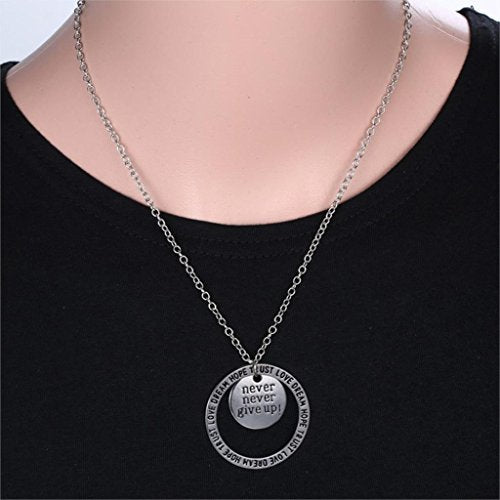 Never give up pendant necklace onlinestoreq8 never give up pendant necklace aloadofball Images