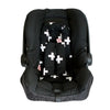 Infant Head Support- Crosses Black