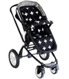 Stroller Liner- Crosses Black