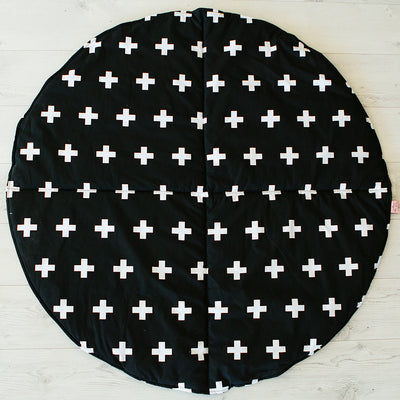 Play Mat- Crosses Black