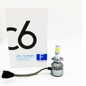 C6 LED Headlight Kit H1-6000k 3800 lumens
