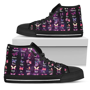 Butterfly Hightop Shoes
