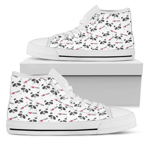 Panda High Top Canvas Shoe