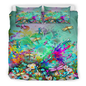 Dragonfly Flowers Bedding M3012