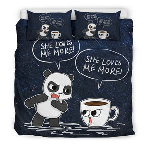 Panda Coffee Bedding Set M3078
