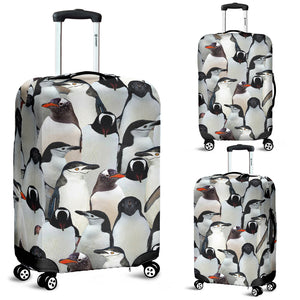 Penguin Luggage Cover