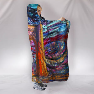Brooklyn Art Hooded Blanket M455