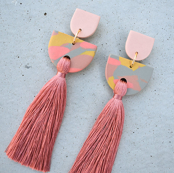 Tiered Tassel - Dusty Rose