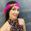Embellished Hair Scarf - Ultra Violet - 03