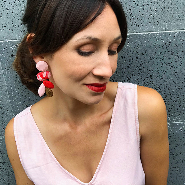 Duchess Dangle Earring - Cherry
