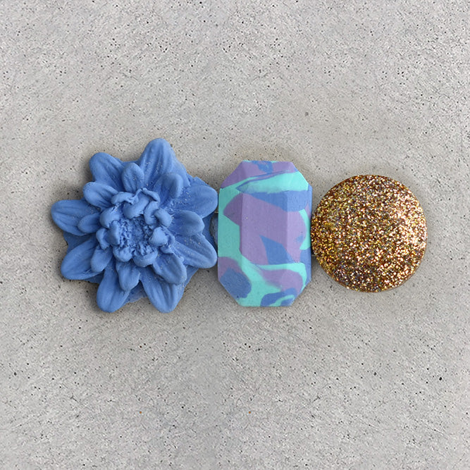 Floral Hair Clip - Periwinkle