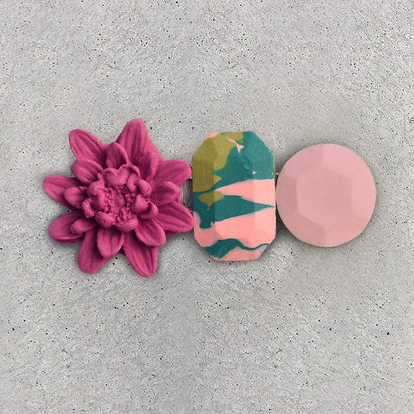 Floral Hair Clip - Jungle