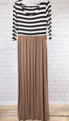 Color Block Stripe Maxi