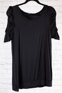 Black Ruched Top