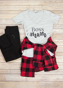 Boss Mom V-Neck T-shirt