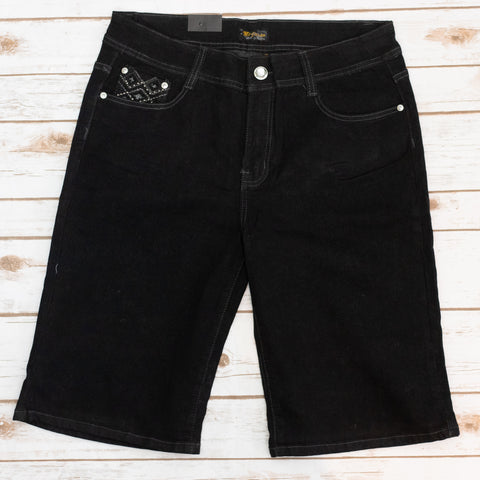 Black Bermudas {Plus Size}
