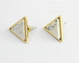 Geometric Stone Earrings {3 Shapes available}