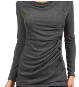 Ruched Side Button Top